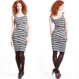 Anthro Bailey 44 Tinsel Stripe Column Dress Small